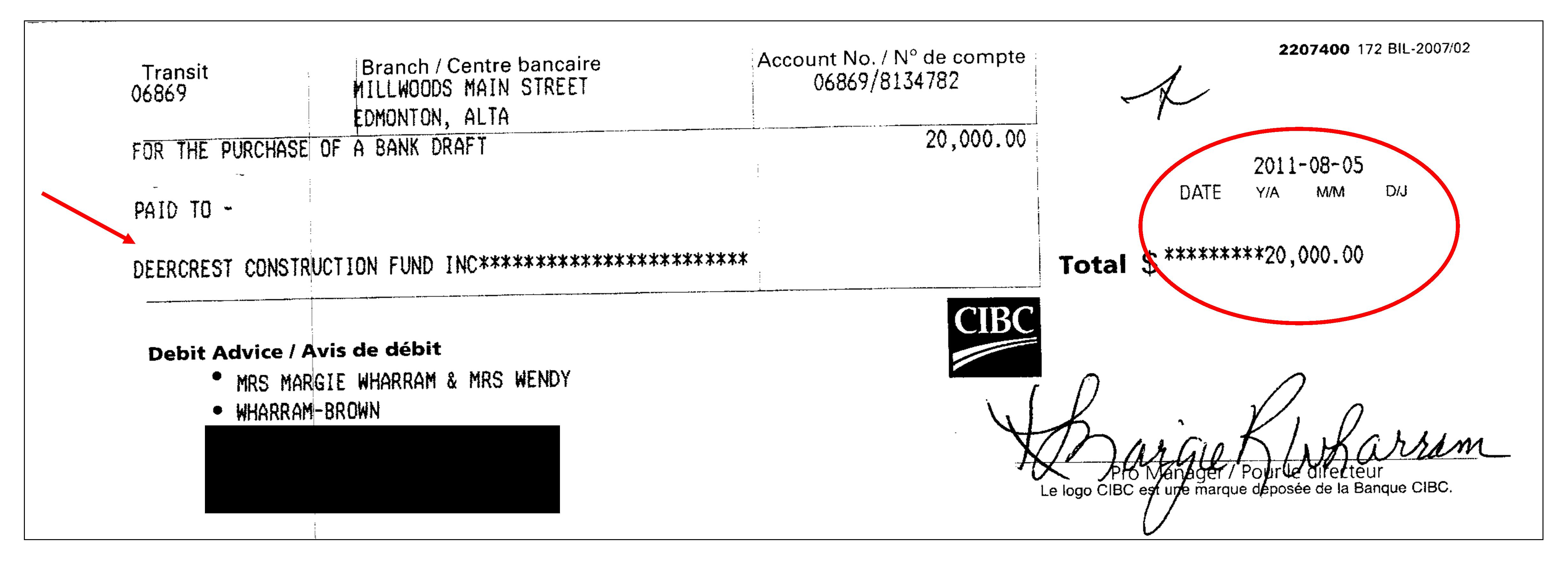 DCF Cheque